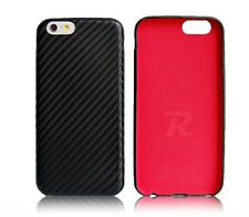 iPhone 6 6s Plus Slim Fit leather case Black Carbon Fiber pattern