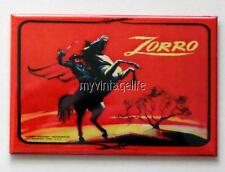 "ZORRO side A Metal LUNCHBOX   2"" x 3"" Fridge MAGNET ART"