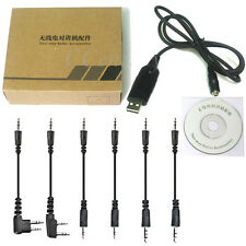 6 in 1 USB PC Sync/Programming Cable + CD - ICOM, Vertex, Motorola, Kenwood, Yae