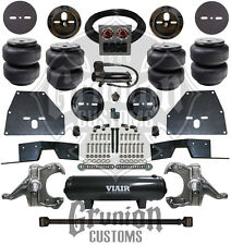 Chevy C10 65-70 Front Rear Air Bag Suspension Kit w/ Drop Spindles C Notch