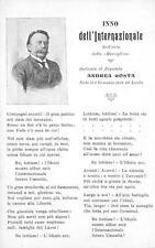 C3727) INNO DELL'INTERNAZIONALE E IL DEPUTATO ANDREA COSTA DA IMOLA.