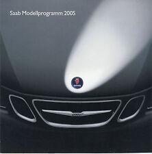 Prospekt Saab 2005 6/04 9-3 Cabriolet 9-3 9-5 Sport Kombi Autoprospekt Broschüre