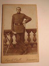 Landshut - stehender Soldat in Uniform mit Dolch ? - Schwalbennester / CDV