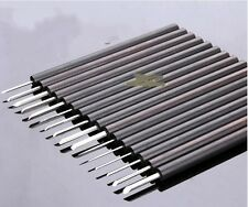 16pcs Olive Nuclear Carving Knife Mirco-carving White Steel Knife Set