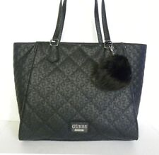 NWT Guess Globes Top Zip Black Handbag Purse Satchel Tote Shopper Shoulder Bag