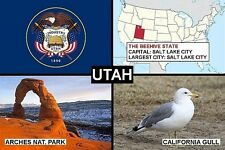 SOUVENIR FRIDGE MAGNET of THE STATE OF UTAH USA