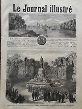 LE JOURNAL ILLUSTRE 1864 N 30 LA STATUE DE L'AMIRAL ARMAND JOSEPH BRUAT A COLMAR
