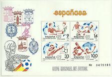 HOJITA CONMEMORATIVA DE SELLOS MUNDIAL 1982 ESPAÑA