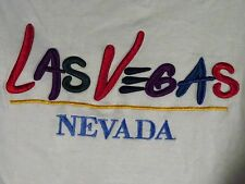 LAS VEGAS Nevada Raised Embroidery Mens T-Shirt Size XL