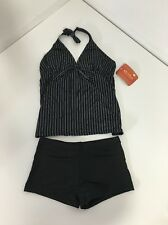NWT Octopus Beachwear Black/white Striped 2PC Tankini Swimsuit Set EU 38/US 8