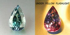 1cts. RARE NATURAL CROWN COLOR CHANGE ALEXANDRITE PEAR LOOSE GEMSTONE