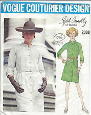 "1969 Vintage VOGUE Sewing Pattern B38"" DRESS (1336) By SYBIL CONNOLLY of DUBLIN"