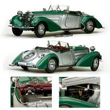 SUNSTAR SS-2404 1939 HORCH ROADSTER GREEN/SILVER DIECAST MODEL CAR 1:18