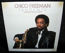 CHICO FREEMAN Tangents (1984 U.S. White Label Gold Foil Stamped Promo LP)