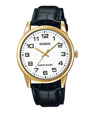 Casio MTP-V001GL -7BUDF Men's Leather Strap Watch New Gold Plated n/b