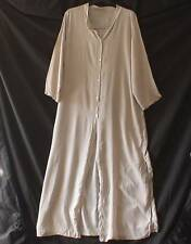 MADE IN ITALY LAGENLOOK Slouchy Duster Coat Maxi Length Abalone Buttons UK M