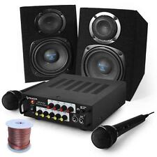 TOP KARAOKE PA SET SPEAKERS MICROPHONE AMPLIFIER COMPLETE SYSTEM INSTALLATION