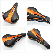New Hollow Road MTB Bike Soft Comfortable Bicycle Saddles Seats Black&Orange JJ