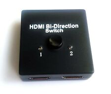 Full HD Puerto de 1 x 2 HDMI Distribuidor Amplificador Repetidor Bidireccional
