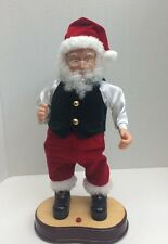 "Dancing Santa Animated & Musical - Make The Season Bright Hip Swinging 17"" Gemmy"