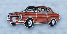 FORD ESCORT Mk.1 ENAMEL LAPEL PIN BADGE. 35x14mm. BUTTERFLY  PIN FIXING