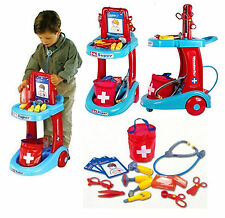 DOCTORS & NURSES HOSPITAL MEDICAL TROLLEY PRETEND ROLE PLAY TOY SET 63008