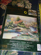 NEW NIP Thomas Kinkade Painter of Light Lamplight Village cross stitch craft kit