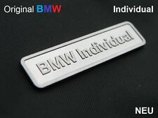 Genuine BMW INDIVIDUAL Logo Badge Aluminium E36 E46 E39 E60 E90 M3 M4 M5 M6 NEW
