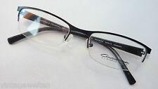 Conquistador edle Brillenfassung ohne Unterrand Schwarz-Weiß-Look leicht GR:M