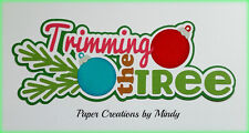 Craftecafe Mindy Christmas Tree  title premade paper piecing scrapbook page
