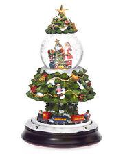 Spieluhr Weihnachten Schneekugel selbstschneiend mit Zug Weihnachtsbaum 402469