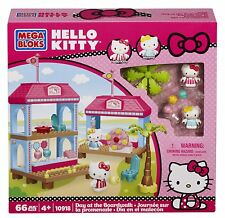 MEGA BLOKS Hello Kitty 66 pc SET 10918 Day at the Boardwalk Friends Mimmy create
