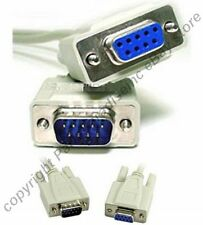 Lot50 10ft DB9pin Male-Female Null Modem Cross/Nul wired,Serial RS232 Cable/Cord