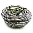 """AN -8 AN8 13/32"""" 10MM Stainless Steel Braided TEFLON PTFE Fuel Hose Pipe 1 Metre"""