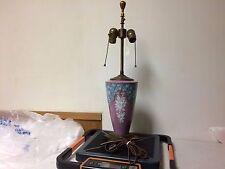 Antique Sevres Porcelain Pate sur Pate 2 Light  Lamp