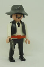 Playmobil ST-14 Man Figure Western Mexican Cowboy Hat Gun Knife