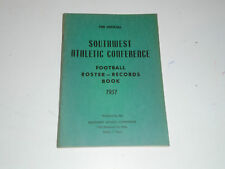 1951 SWC SOUTHWEST ATHLETIC CONFERENCE 1ST ANNUAL COLLEGE FOOTBALL GUIDE
