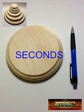 "M00512 MOREZMORE 1 Unfinished 5"" SECONDS Round Wood Base Wooden Plaque NSS"