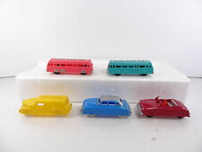 Vintage Renwal Products Lot of 5 City Bus Co Delivery Truck Cars No 104 93 124