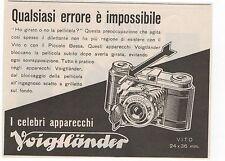 Pubblicità vintage VOIGTLANDER FOTO VITO PHOTO reklame advert werbung publicitè
