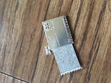 """Beverly Hills Silver 7/8"""" Sterling Silver Envelope Charm with """"I love you"""" slide"""
