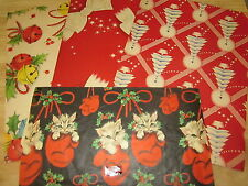 VINTAGE PIECES OF CHRISTMAS WRAPPING PAPERS