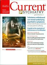 2014 Current Psychiatry Magazine: Substance Withdrawal Can Reveal Symptoms