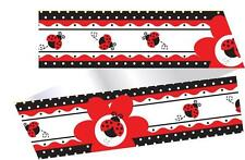 Fancy Ladybug Polka Dot Party Cake Frill Ribbon - 100cm