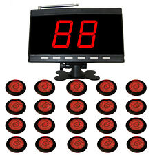 SINGCALL Wireless Table Calling Systems for Pub,Kitchen,1 Display and 20 Buttons