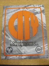 08/10/1974 Bristol City v Liverpool [Football League Cup] . Condition: Listed pr