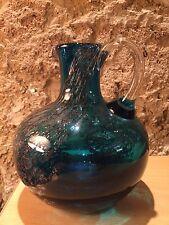 Kunst Glas Henkel Krug Glas Mit Einschlüssen Murano?! Mit Einschmelzungen
