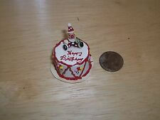 Re Ment Barbie size Birthday Cake with Clown Doll House Diarama Sweet Shop OOAK