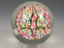 Vintage FRATELLI TOSO Murano PAPERWEIGHT MILLEFIORI BOUQUET TWISTED RIBBONS
