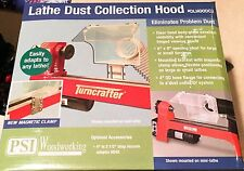 PSI Woodworking DLHOODC2 Clear Wood Lathe Dust Hood With Magnetic Mounting New